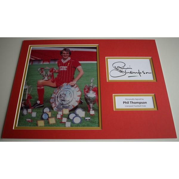 Phil Thompson SIGNED autograph 16x12 photo display Liverpool Football  AFTAL & COA Memorabilia PERFECT GIFT