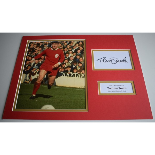 Tommy Smith SIGNED autograph 16x12 photo display Liverpool Football Memorabilia AFTAL & COA  PERFECT GIFT