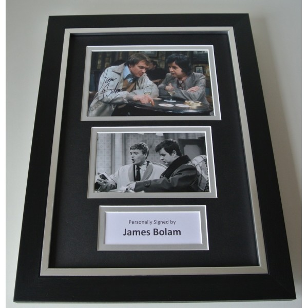 James Bolam SIGNED A4 FRAMED Photo Autograph Display The Likely Lads TV & COA