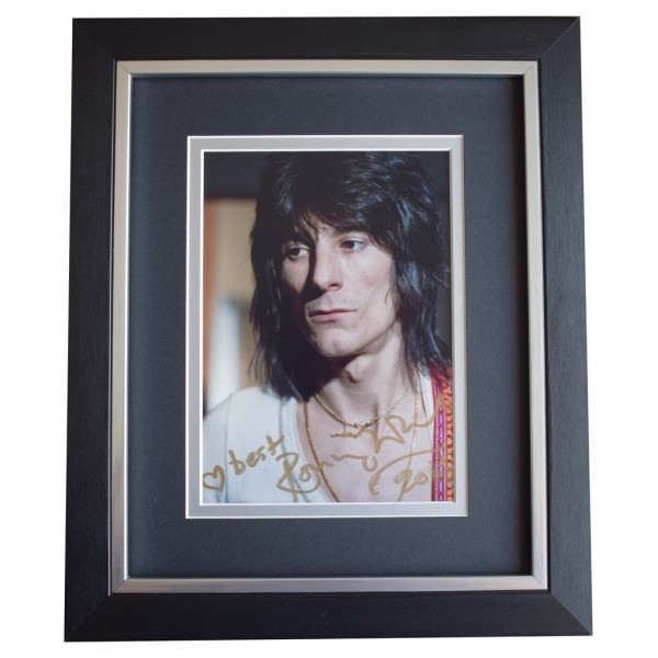 Ronnie Wood SIGNED 10x8 FRAMED Photo Autograph Display Rolling Stones Music  AFTAL  COA Memorabilia PERFECT GIFT