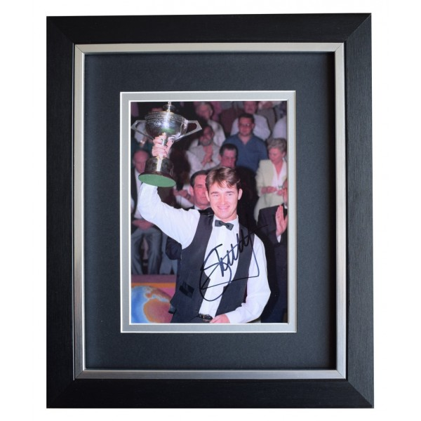Stephen Hendry SIGNED 10x8 FRAMED Photo Autograph Display Snooker Sport  AFTAL  COA Memorabilia PERFECT GIFT