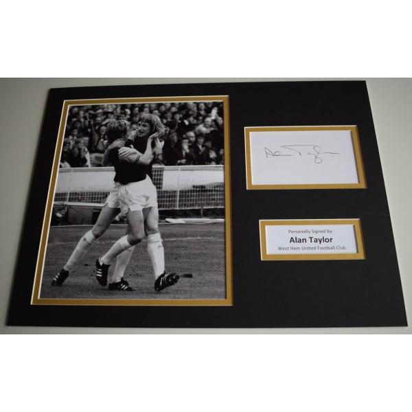 Alan Taylor SIGNED autograph 16x12 photo display West Ham United football AFTAL & COA Memorabilia PERFECT GIFT