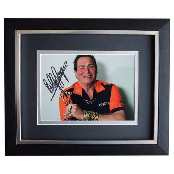 Bobby George SIGNED 10x8 FRAMED Photo Autograph Display Darts Sport  AFTAL  COA Memorabilia PERFECT GIFT