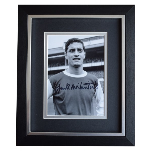 Frank McLintock SIGNED 10x8 FRAMED Photo Autograph Display Arsenal AFTAL  COA Memorabilia PERFECT GIFT