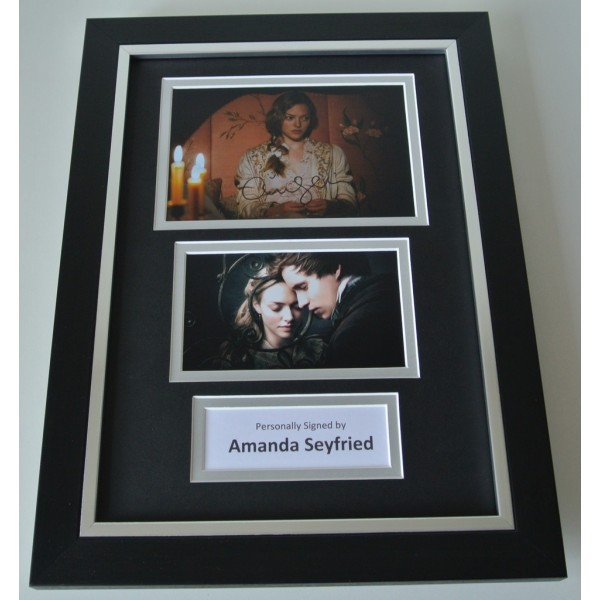 Amanda Seyfried SIGNED A4 FRAMED Photo Autograph Display Les Miserables & COA