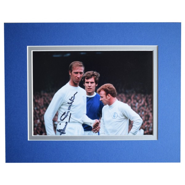 Jack Charlton Signed Autograph 10x8 photo display Leeds Utd Football  AFTAL  COA Memorabilia PERFECT GIFT