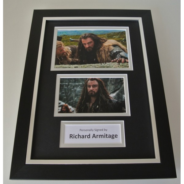 Richard Armitage SIGNED A4 FRAMED Photo Autograph Display Hobbit Film & COA