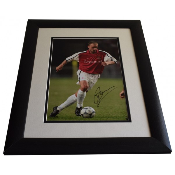Dennis Bergkamp SIGNED FRAMED Photo Autograph 16x12 LARGE display Arsenal AFTAL & COA  PERFECT GIFT