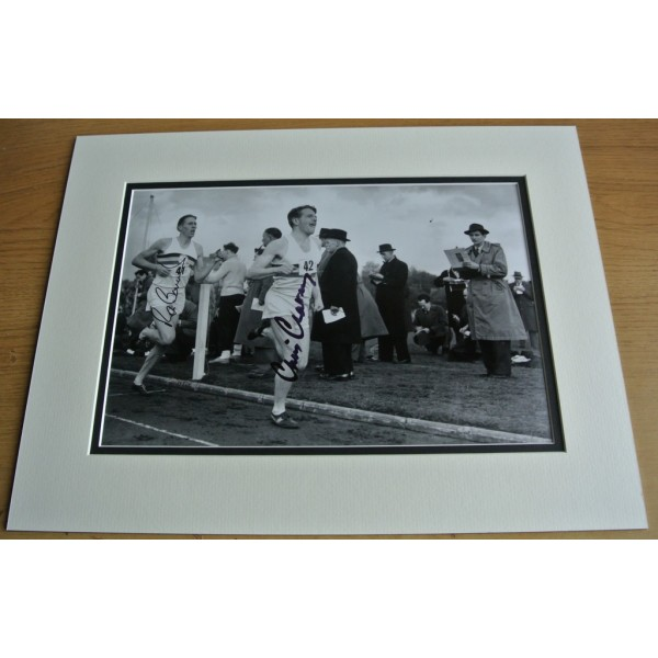 Roger Bannister & Chris Chataway SIGNED autograph 16x12 LARGE photo display COA  PERFECT GIFT