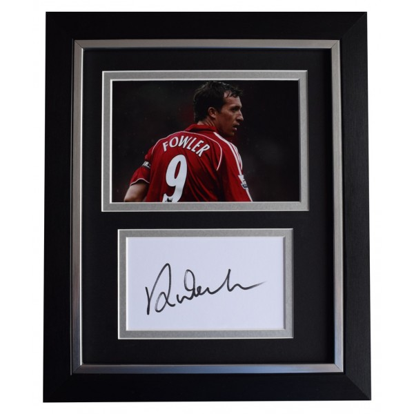 Robbie Fowler SIGNED 10x8 FRAMED Photo Autograph Display Liverpool Football  AFTAL  COA Memorabilia PERFECT GIFT