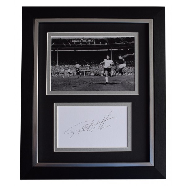 Geoff Hurst SIGNED 10x8 FRAMED Photo Autograph Display England World Cup 66   AFTAL  COA Memorabilia PERFECT GIFT