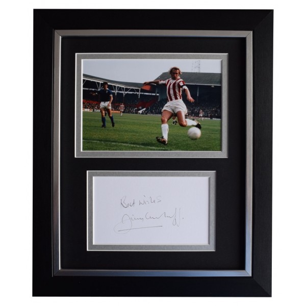 Jimmy Greenhoff SIGNED 10x8 FRAMED Photo Autograph Display Stoke Football    AFTAL  COA Memorabilia PERFECT GIFT