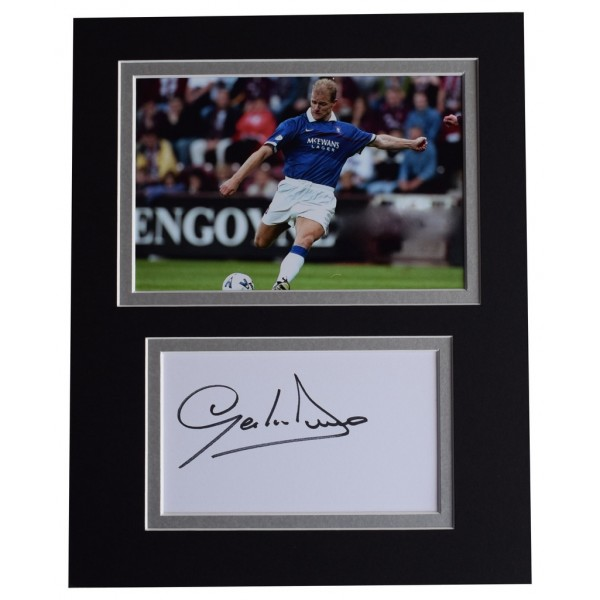 Gordon Durie Signed Autograph 10x8 photo display Glasgow Rangers Football  AFTAL  COA Memorabilia PERFECT GIFT