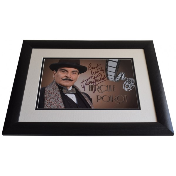 David Suchet SIGNED FRAMED Photo Autograph 16x12 LARGE display Poirot AFTAL & COA  PERFECT GIFT