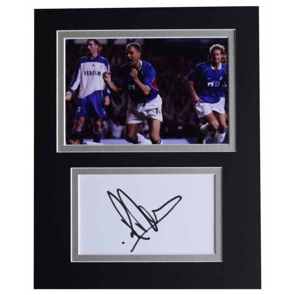 Ronald de Boer Signed Autograph 10x8 photo display Glasgow Rangers Football AFTAL  COA Memorabilia PERFECT GIFT