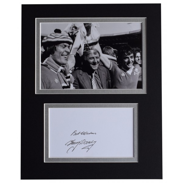 Tommy Docherty Signed Autograph 10x8 photo display Manchester Utd Football  AFTAL  COA Memorabilia PERFECT GIFT