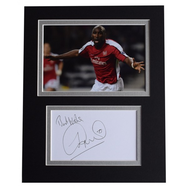Sol Campbell Signed Autograph 10x8 photo display Arsenal Football  AFTAL  COA Memorabilia PERFECT GIFT