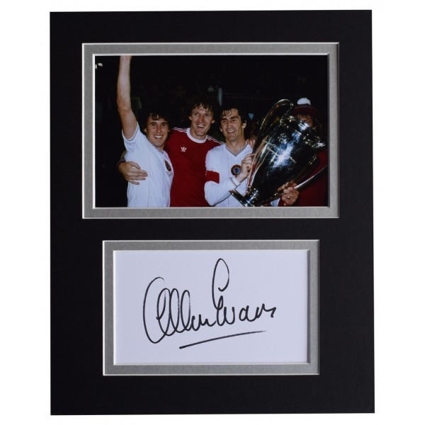 Allan Evans Signed Autograph 10x8 photo display Aston Villa Football AFTAL  COA Memorabilia PERFECT GIFT