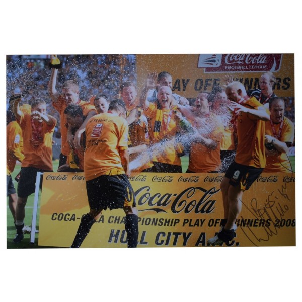Dean Windass SIGNED 12x8 Photo Autograph Hull City Football  AFTAL  COA Memorabilia PERFECT GIFT