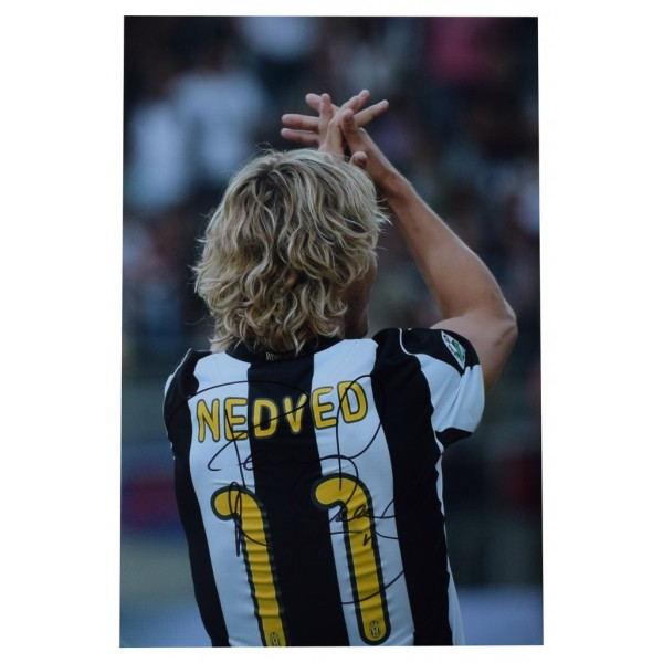 Pavel Nedved SIGNED 12x8 Photo Autograph Juventus Football  AFTAL  COA Memorabilia PERFECT GIFT