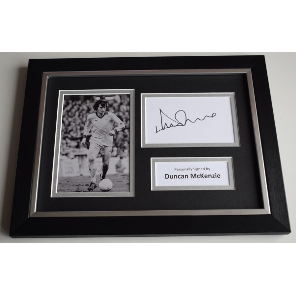 Duncan McKenzie Signed A4 FRAMED photo Autograph display Everton Football  AFTAL & COA  PERFECT GIFT
