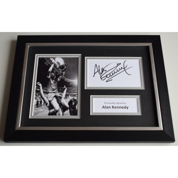 Alan Kennedy Signed A4 FRAMED photo Autograph display Liverpool Football  AFTAL & COA  PERFECT GIFT
