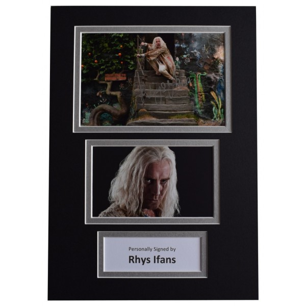 Rhys Ifans Signed Autograph A4 photo display Harry Potter Film AFTAL  COA Memorabilia PERFECT GIFT
