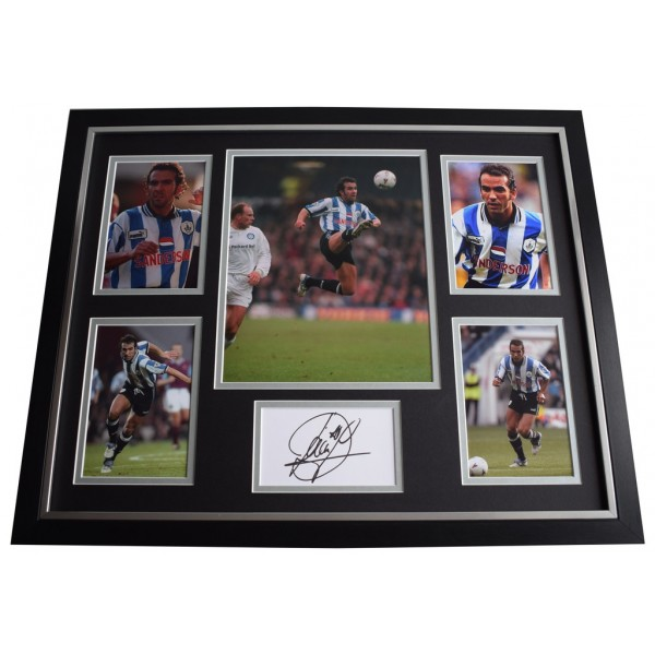 Paolo di Canio SIGNED Framed Photo Autograph Huge display Sheffield Wednesday Memorabilia AFTAL & COA  PERFECT GIFT