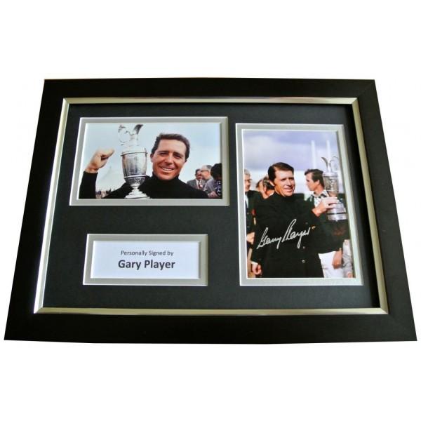 Gary Player Signed A4 FRAMED Photo Autograph Display Golf Open AFTAL & COA Memorabilia