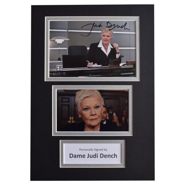 Dame Judi Dench Signed Autograph A4 photo display James Bond Film   AFTAL  COA Memorabilia PERFECT GIFT