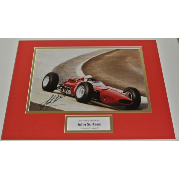 John Surtees SIGNED autograph 16x12 photo display Formula 1 Racing AFTAL & COA Sport Memorabilia PERFECT GIFT