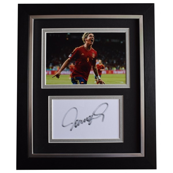 Fernando Torres SIGNED 10x8 FRAMED Photo Autograph Display Spain Football AFTAL  COA Memorabilia PERFECT GIFT