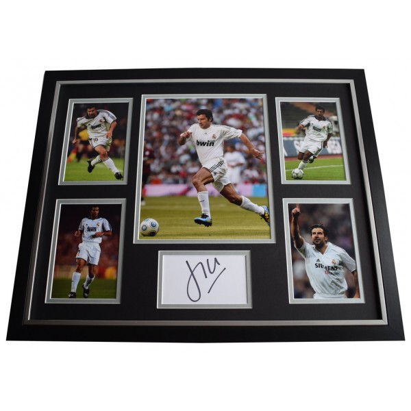 Luis Figo SIGNED Framed Photo Autograph Huge display Real Madrid Football     Memorabilia AFTAL & COA  PERFECT GIFT