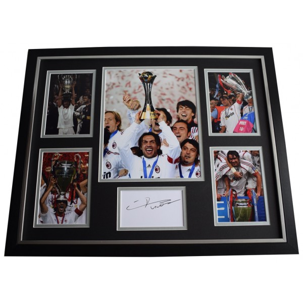 Paolo Maldini SIGNED Framed Photo Autograph Huge display AC Milan Football   Memorabilia AFTAL & COA  PERFECT GIFT