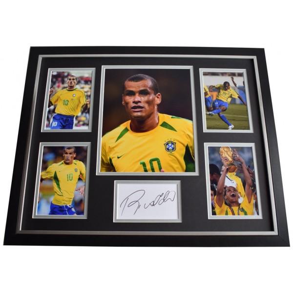 Rivaldo SIGNED Framed Photo Autograph Huge display Brazil Football   Memorabilia AFTAL & COA  PERFECT GIFT