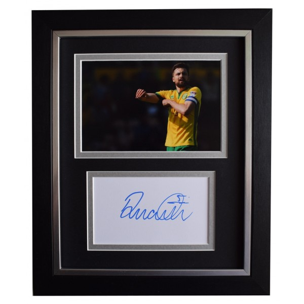 Russell Martin SIGNED 10x8 FRAMED Photo Autograph Display Norwich City   AFTAL  COA Memorabilia PERFECT GIFT