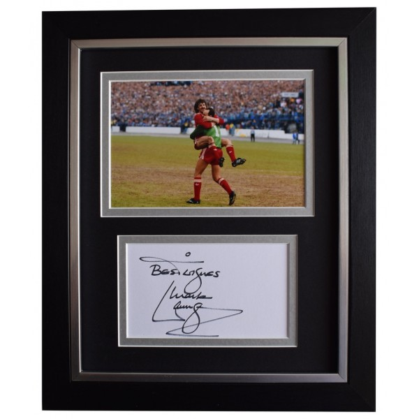 Mark Lawrenson SIGNED 10x8 FRAMED Photo Autograph Display Liverpool Football   AFTAL  COA Memorabilia PERFECT GIFT