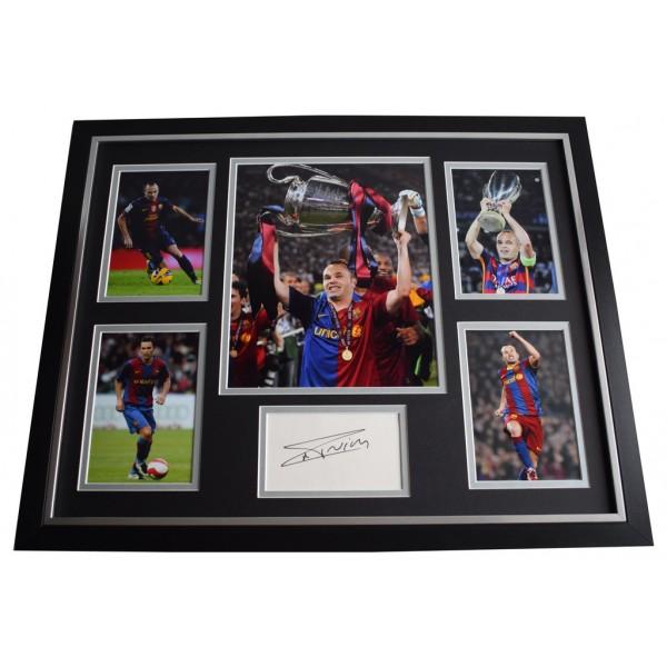Andre Iniesta SIGNED Framed Photo Autograph Huge display Barcelona Football    Memorabilia AFTAL & COA  PERFECT GIFT