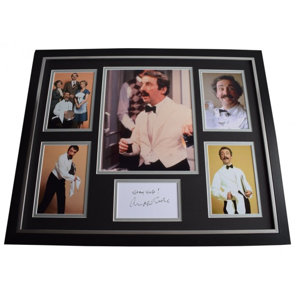 Andrew Sachs SIGNED Framed Photo Autograph Huge display Fawlty Towers  Memorabilia AFTAL & COA  PERFECT GIFT