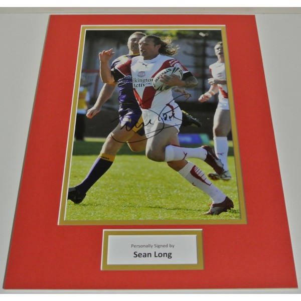Sean Long SIGNED autograph 16x12 photo display St Helens Rugby League AFTAL COA Sport Memorabilia PERFECT GIFT