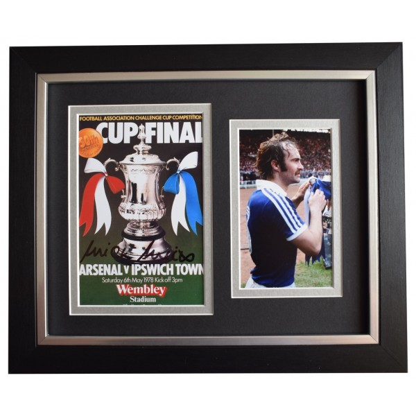Mick Mills SIGNED 10x8 FRAMED Photo Autograph  Ipswich Town 1978 FA Cup final AFTAL  COA Memorabilia PERFECT GIFT