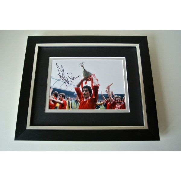 Alan Hansen SIGNED 10X8 FRAMED Photo Autograph Display Liverpool PROOF & COA