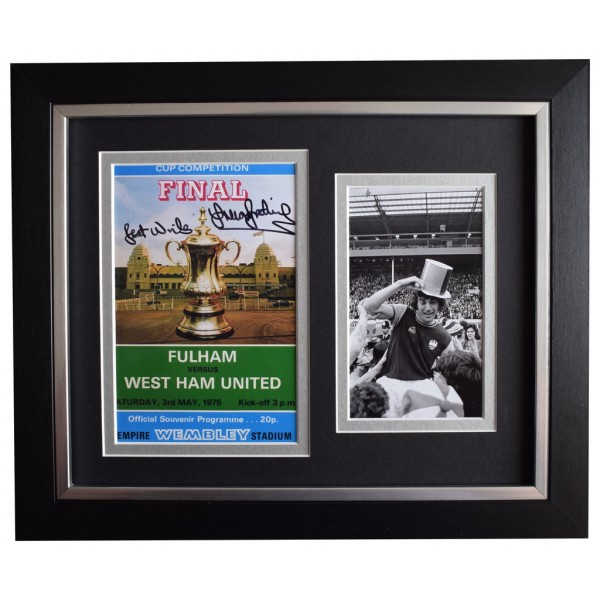 Trevor Brooking SIGNED 10x8 FRAMED Photo Autograph West Ham 1975 FA Cup final  AFTAL  COA Memorabilia PERFECT GIFT
