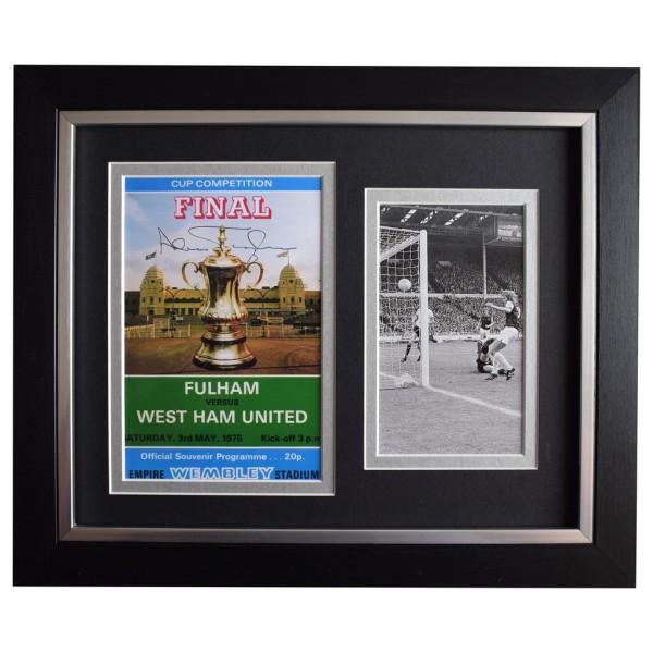 Alan Taylor SIGNED 10x8 FRAMED Photo Autograph West Ham Utd 1975 FA Cup final AFTAL  COA Memorabilia PERFECT GIFT