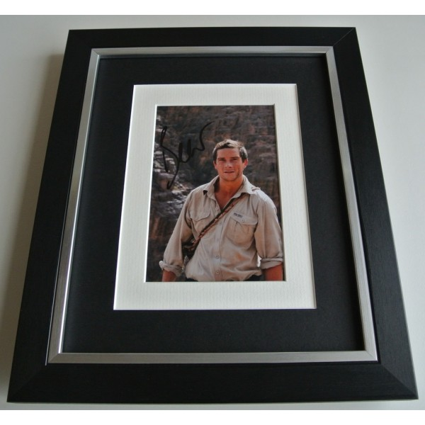Bear Grylls SIGNED 10x8 FRAMED Photo Autograph Display Man V Wild TV AFTAL COA TV FILM Memorabilia PERFECT GIFT
