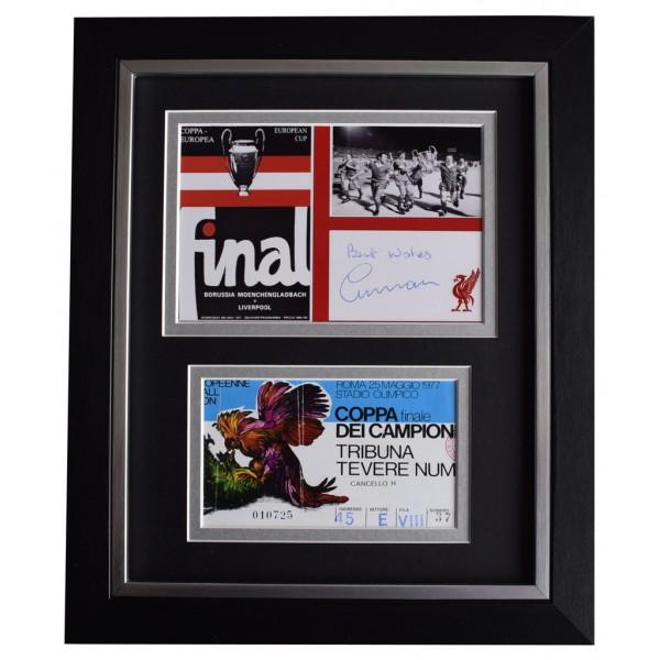 Ronnie Moran SIGNED 10x8 FRAMED Photo Autograph Liverpool European Cup 1977  AFTAL  COA Memorabilia PERFECT GIFT