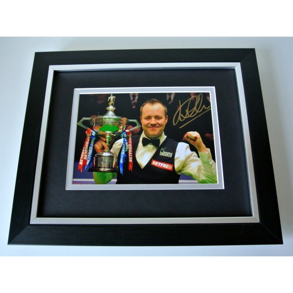 John Higgins SIGNED 10X8 FRAMED Photo Mount Autograph Display Snooker & COA