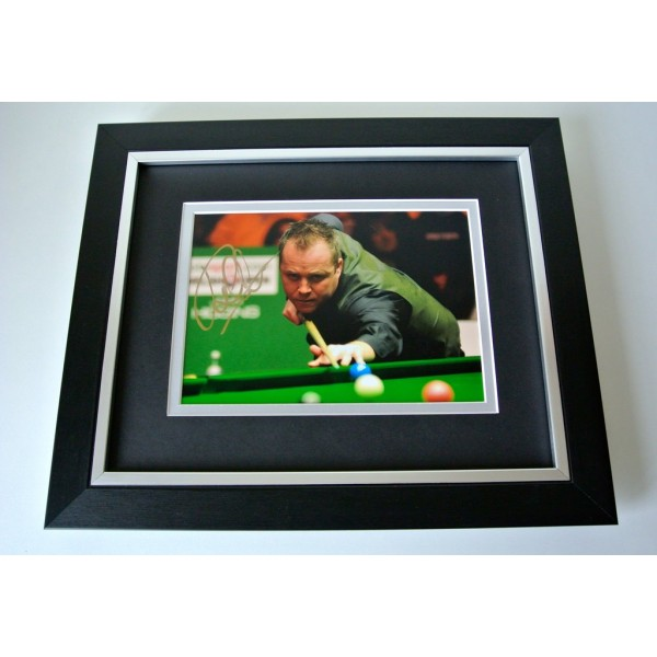 John Higgins SIGNED 10X8 FRAMED Photo Mount Autograph Display Snooker & COA
