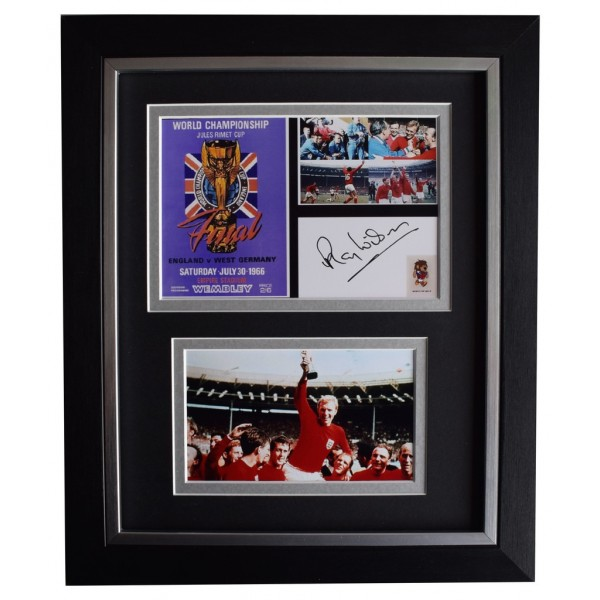 Ray Wilson SIGNED 10x8 FRAMED Photo Autograph England 1966 World Cup final AFTAL  COA Memorabilia PERFECT GIFT