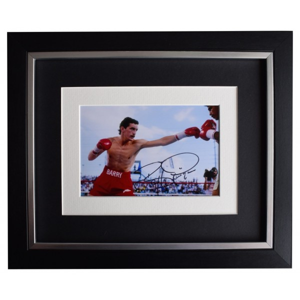 Barry McGuigan SIGNED 10x8 FRAMED Photo Autograph Display Boxing Sport  AFTAL  COA Memorabilia PERFECT GIFT
